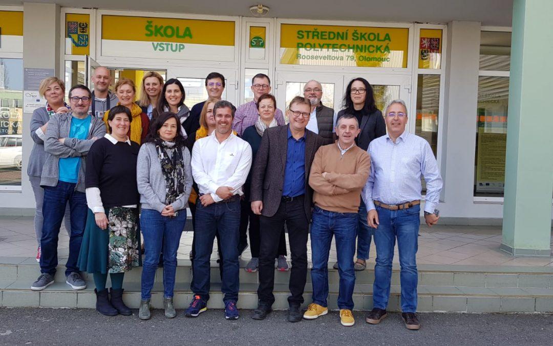 El proyecto KA202 Transferencias Europeas de Habilidades, que se inició en diciembre de 2018 en Huelva con la primera reunión transnacional, tiene su continuidad en Olomouc (República Checa)
