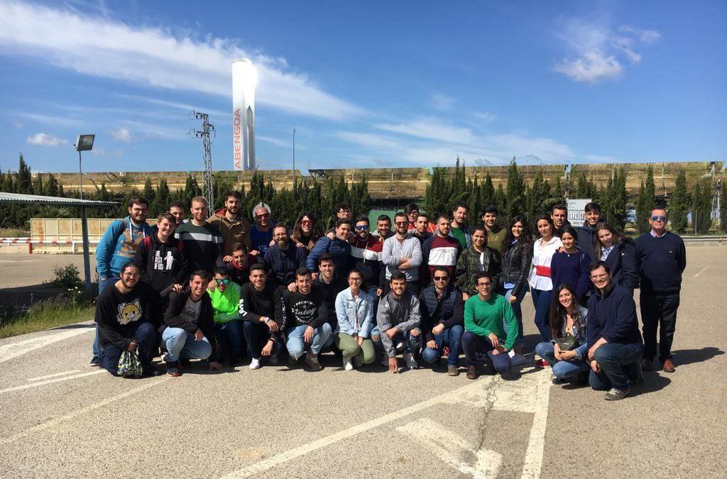 Visita del alumnado de Química Industrial a la planta Termo solar de Abengoa en Aznalcollar (Sevilla).