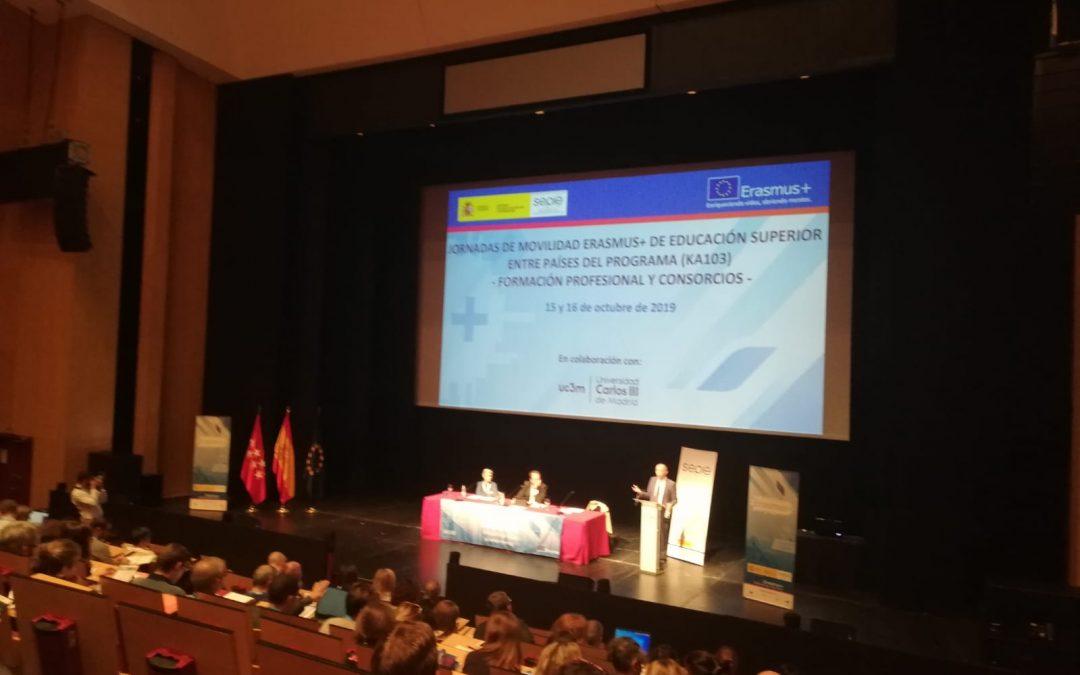 JORNADAS DE MOVILIDAD ERASMUS + DE EDUCACIÓN SUPERIOR