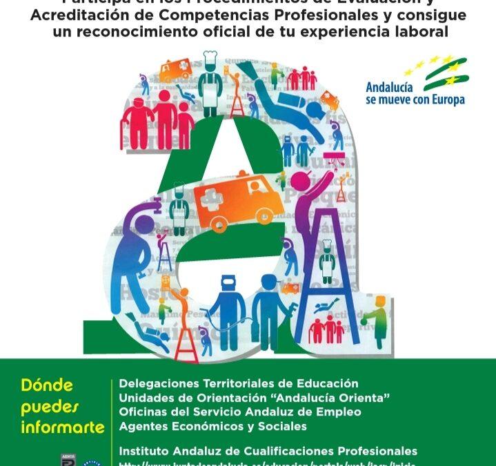Participa en los Procedimientos de Evaluación y Acreditación de Competencias Profesionales «Acredítate»
